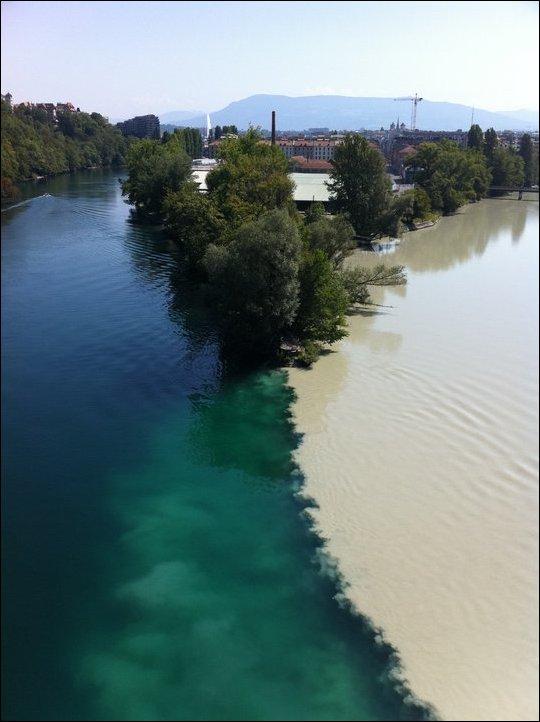 Слияние рек Рон и Арве
