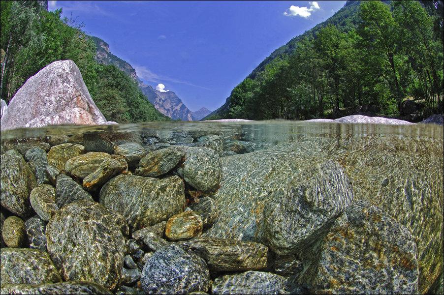 Прозрачные воды реки Верзаска