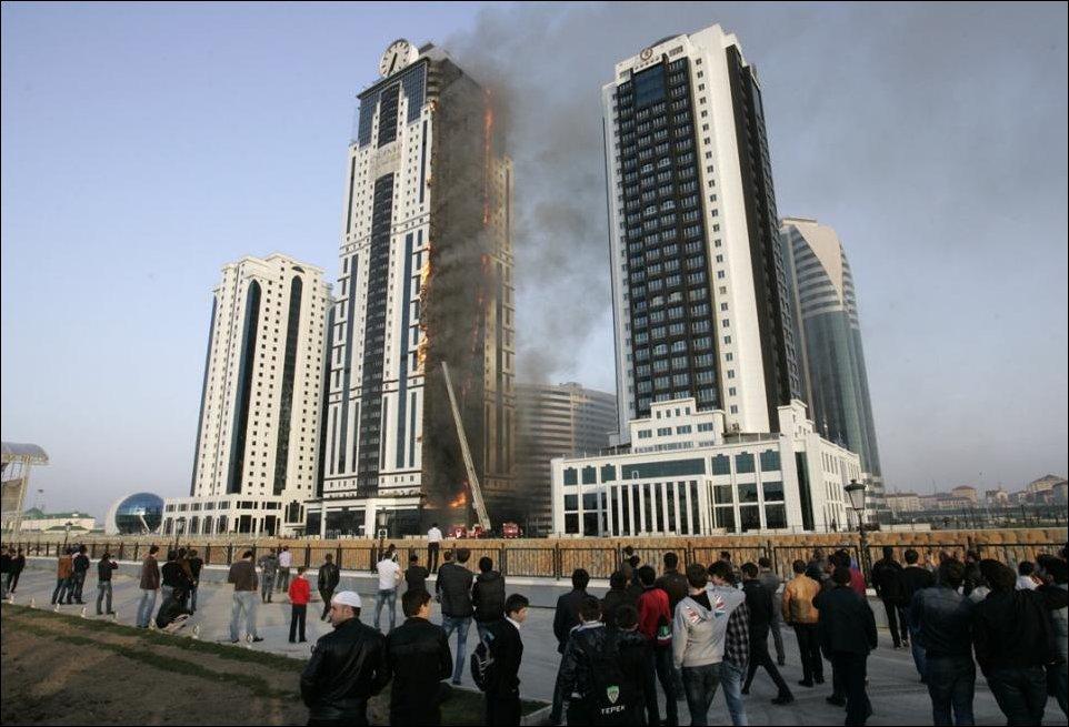 Пожар в Грозный-Сити