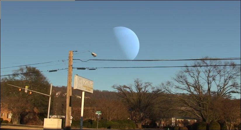 Если бы на месте луны были другие планеты солнечной системы