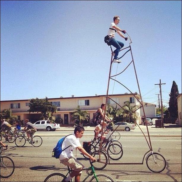 Самый высокий велосипед