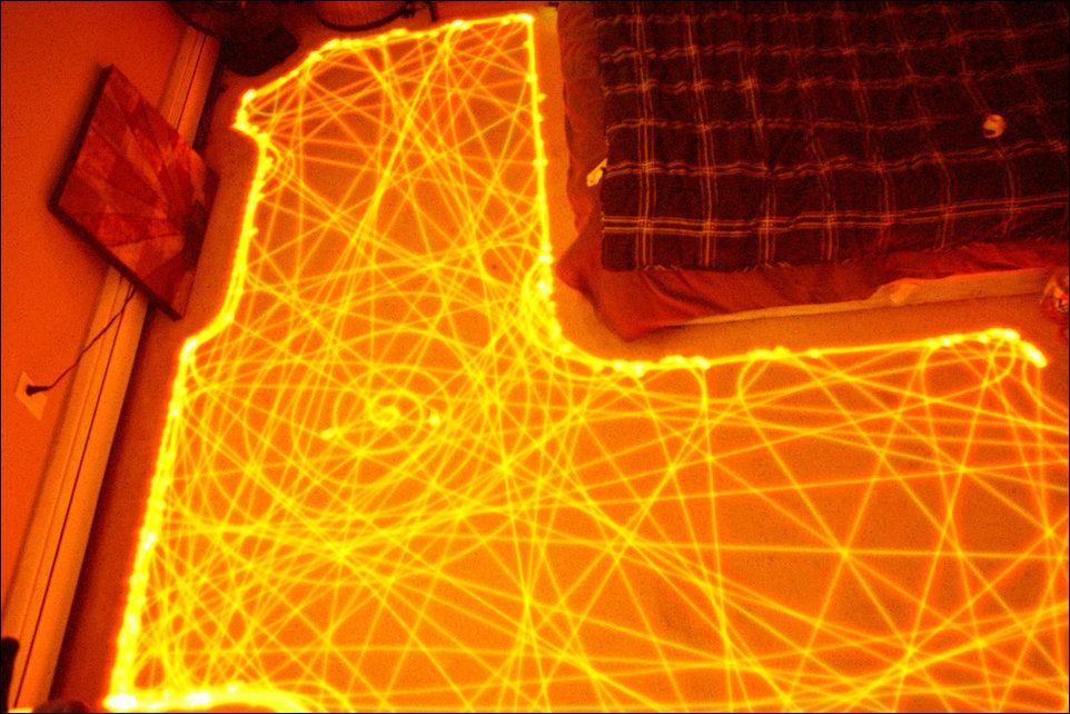 Траектория движения автономного робота-пылесоса