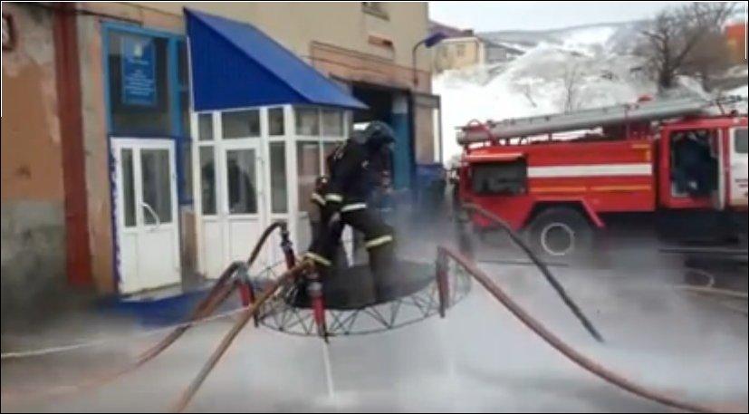 Пожарные на ковре-самолете