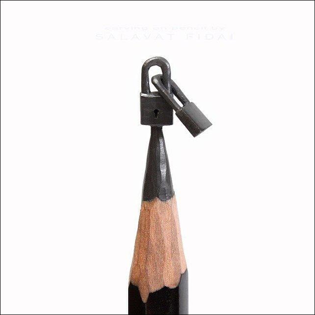 Скульптуры на кончике карандаша