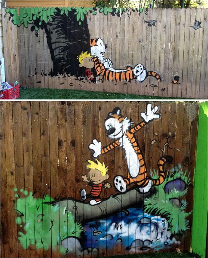 прикольные рисунки на забор словам