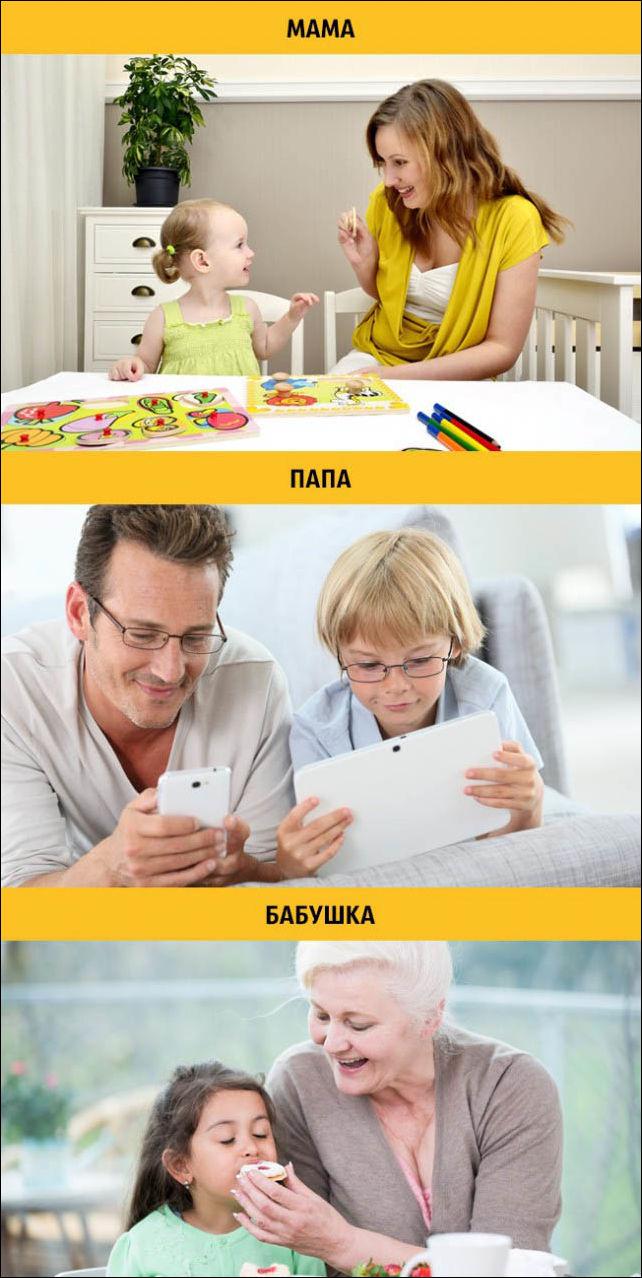 Воспитание ребенка глазами мамы папы и бабушки