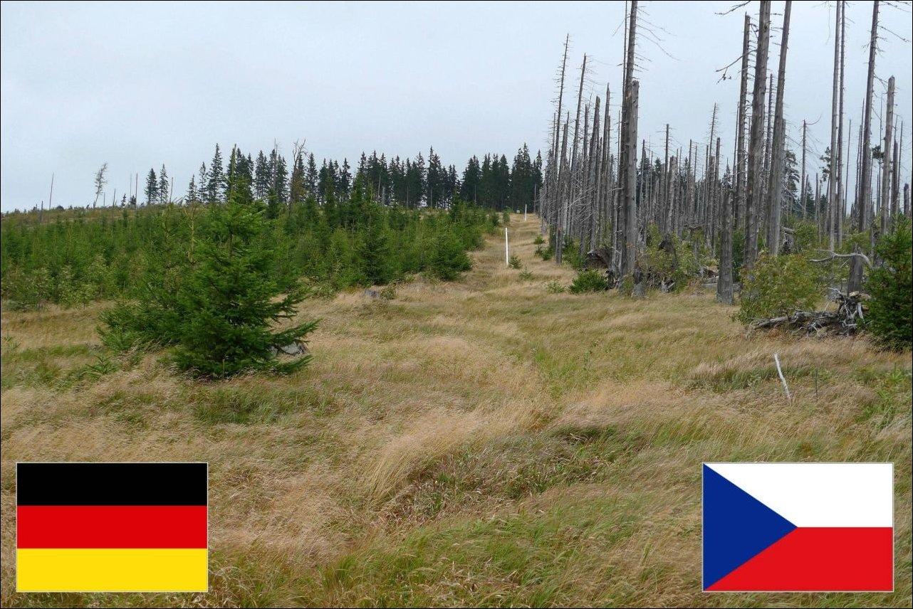 Граница Германии и Чехии