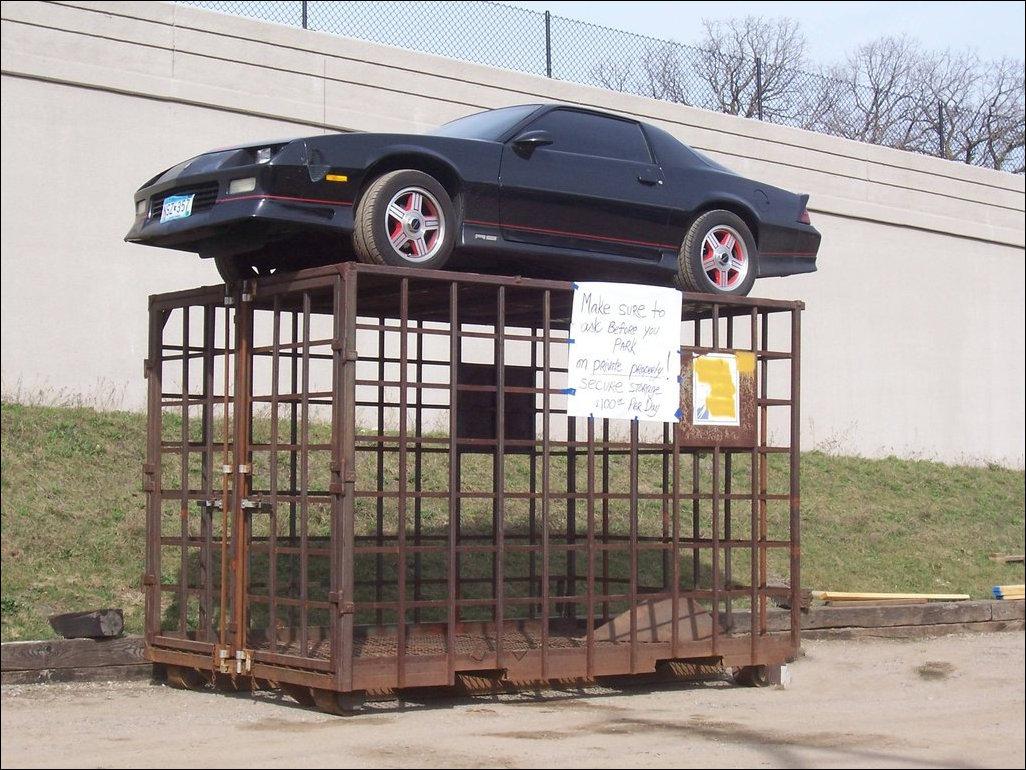 Наказание за парковку на частной территории