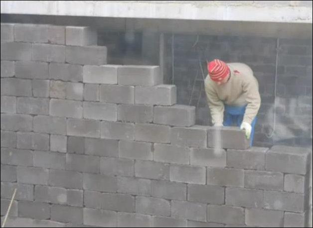 Кладка стены без раствора