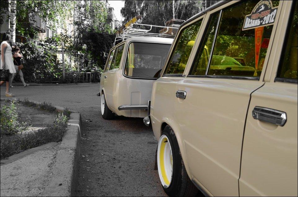 ВАЗ 2102 с прицепом