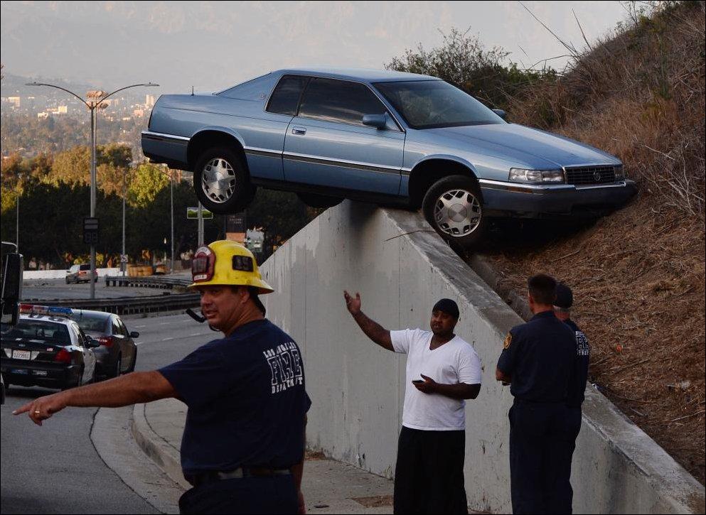 необычное ДТП в Лос-Анджелесе