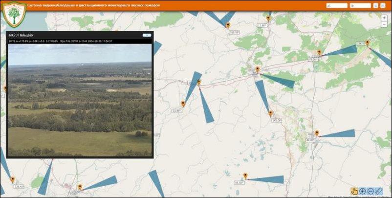 Мониторинг лесных пожаров в псковской области