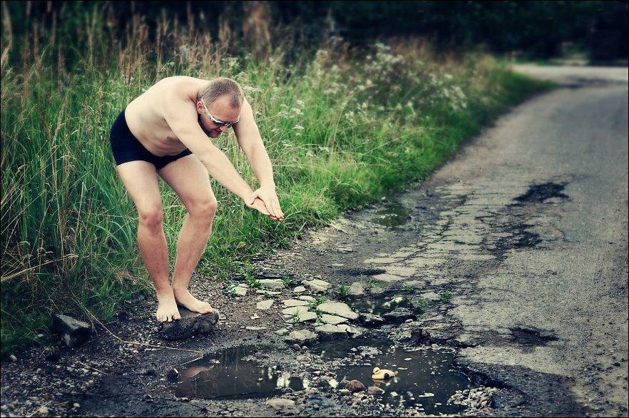 Плохие дороги в Каунасе