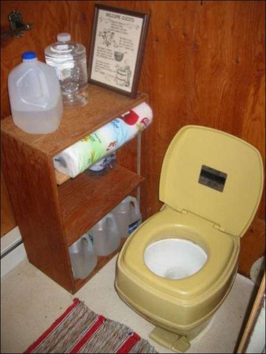 Туалет в лесу