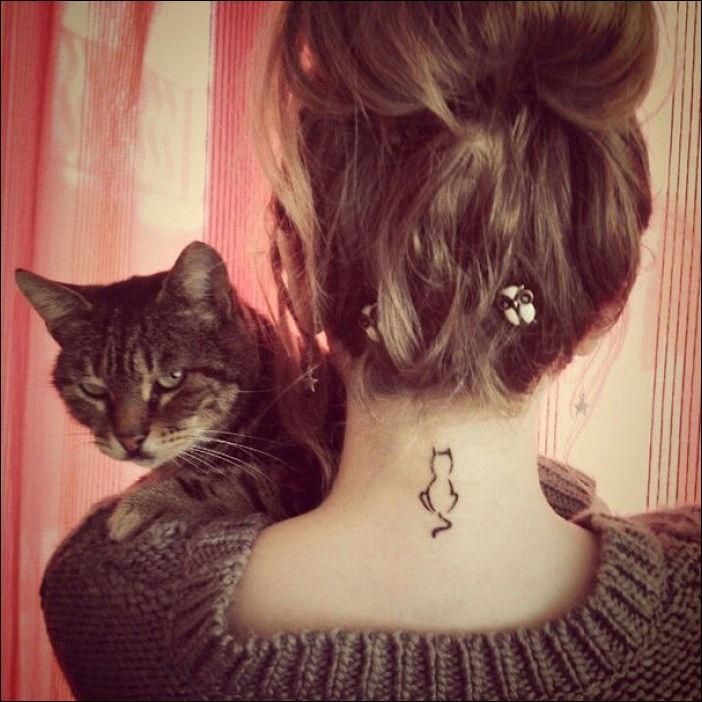Татуировка с котом