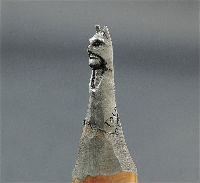 Скульптуры вырезанные из карандашного грифеля
