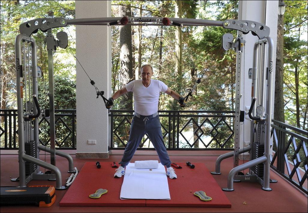 Тренировка в Сочи - Путин и Медведев