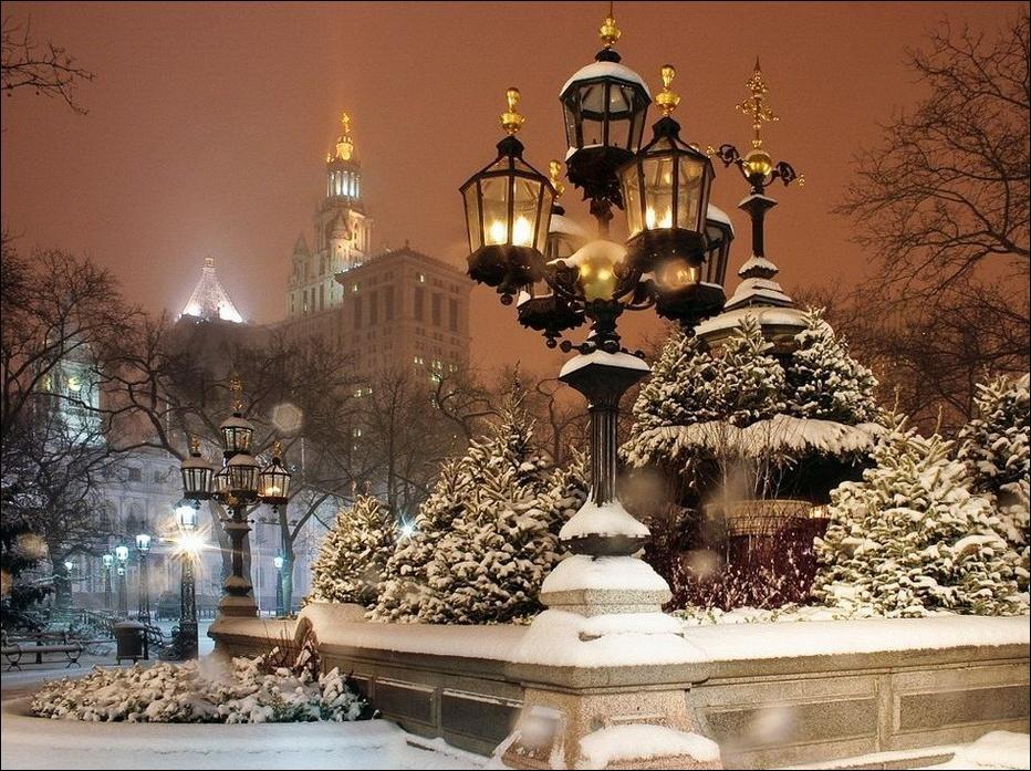 Фото ночного города нью йорк