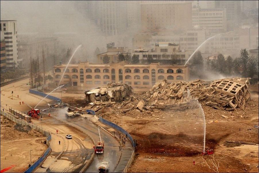 Взрыв здания в Китае