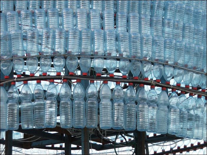 Ёлка из пластиковых бутылок