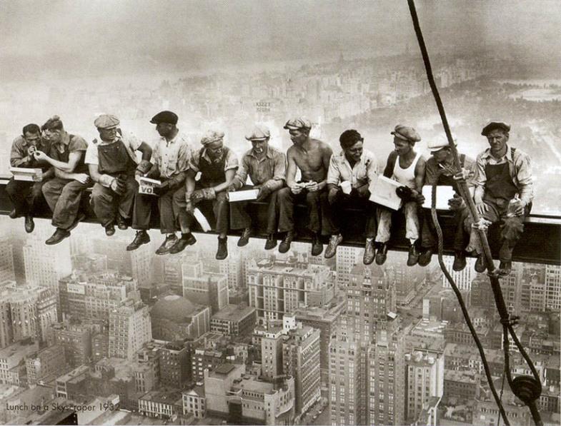 Как строили небоскребы в Нью-Йорке