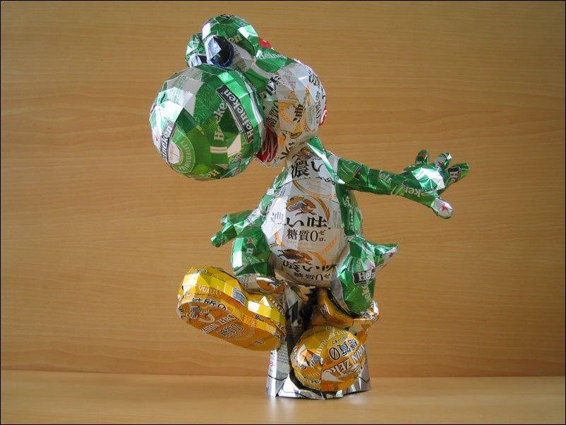 Скульптуры из алюминиевых банок