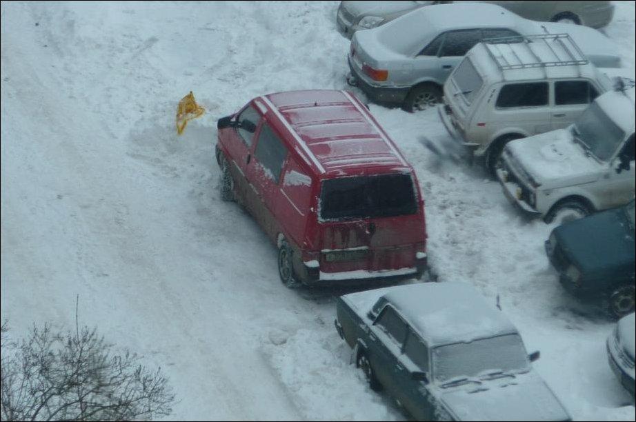 Проблемы с уборкой снега во дворе