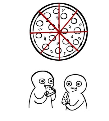 Как правильно разрезать пиццу