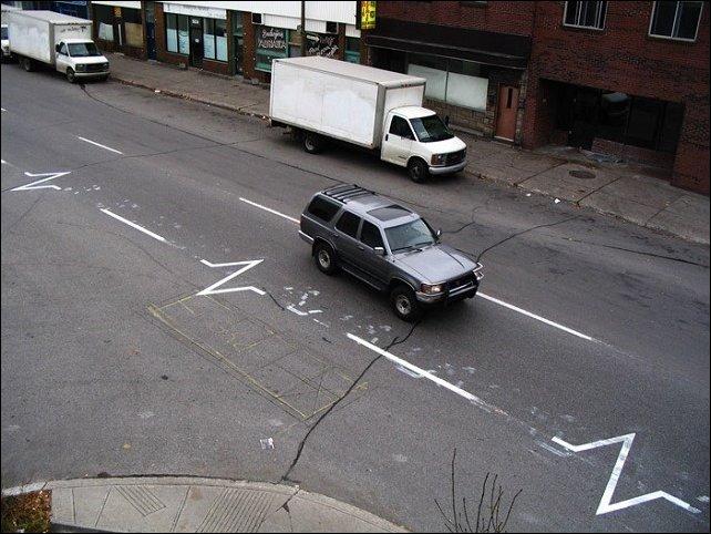 Дорожный стрит-арт