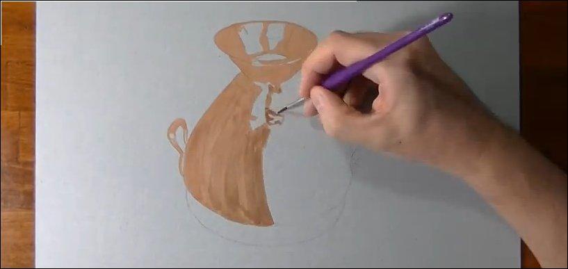 Как нарисовать медный кувшин