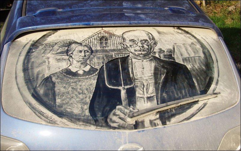 Рисунки на грязных автомобилях