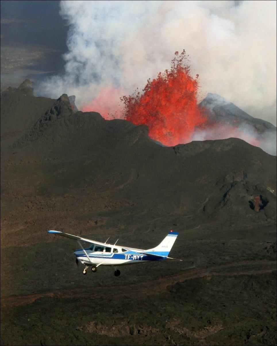 Полет над вулканом