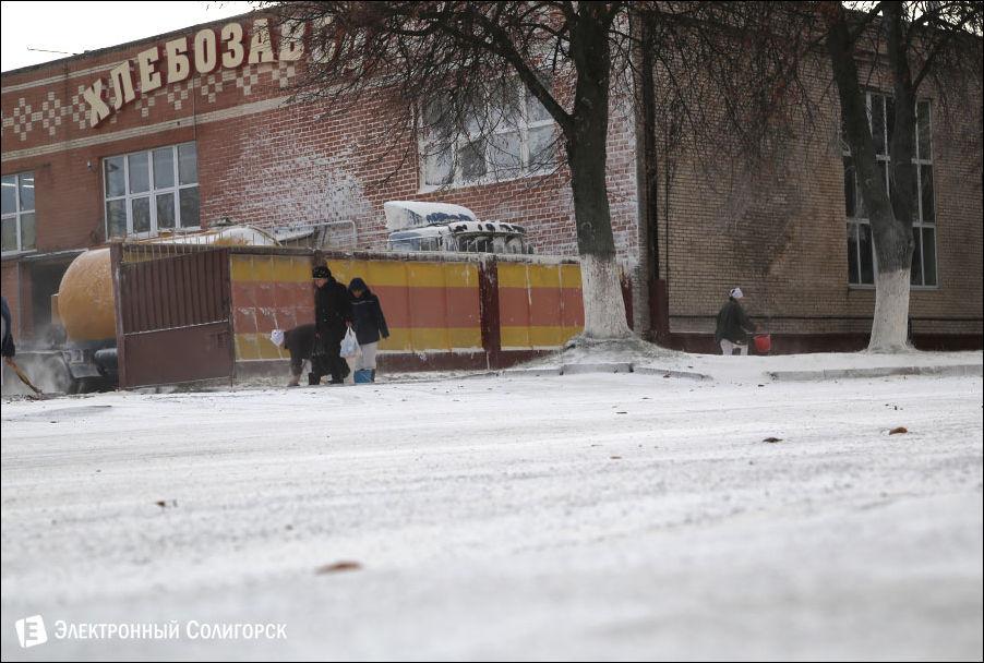 Выброс муки в Солигорске