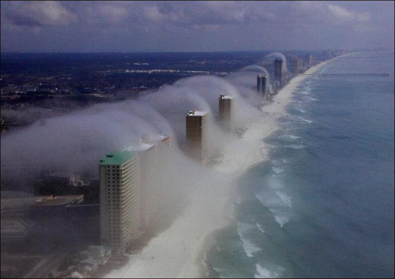 Ветреный день на побережье Флориды