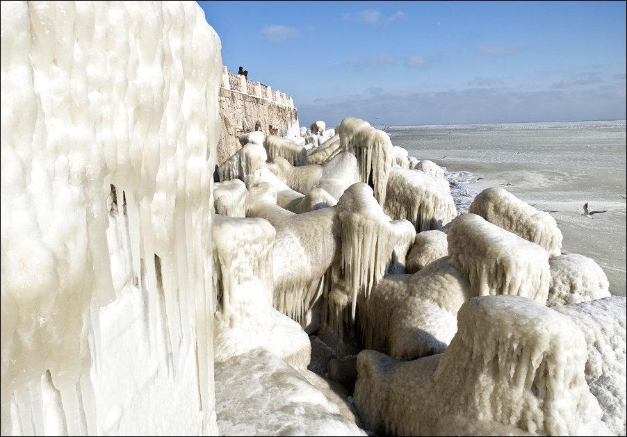 Черное Море замерзло
