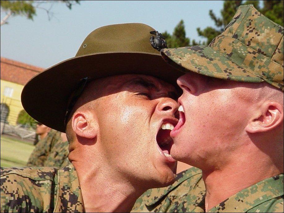 Инструкторы корпуса морской пехоты США за работой (22 фото) .