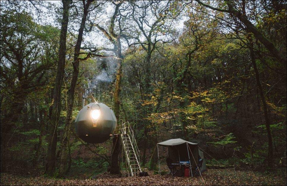 Палатка-шар для подвешивания на дерево
