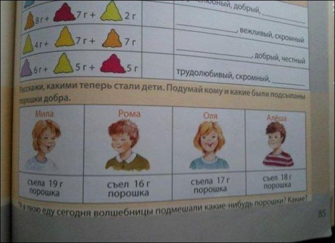 Идиотские задания в учебниках