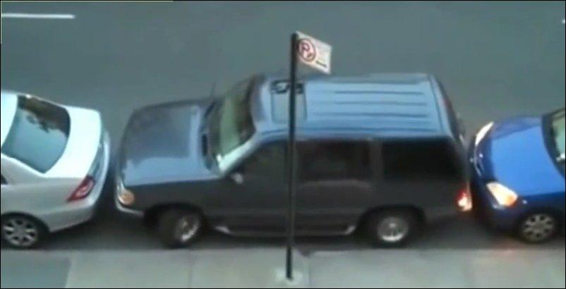 Зажали на парковке