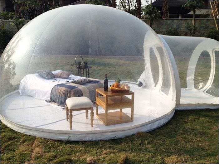 Надувная прозрачная палатка
