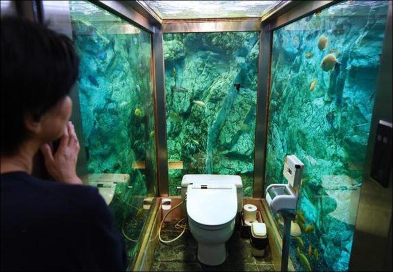 Туалет с видом из окна