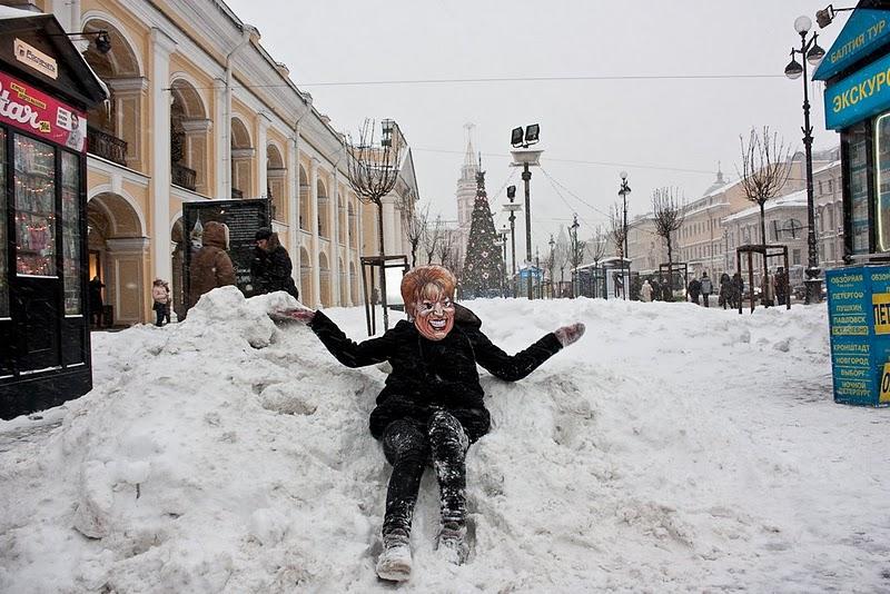 Зима в питере картинки смешные