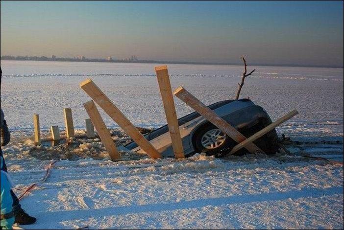 Покатался по льду