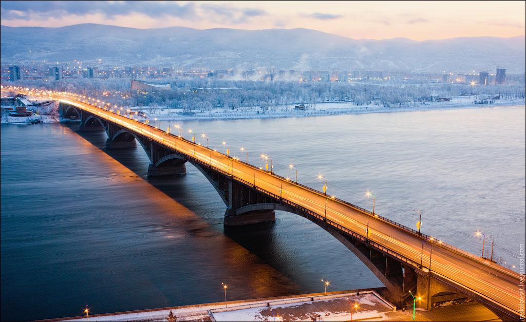 картинки красноярского моста как раз была