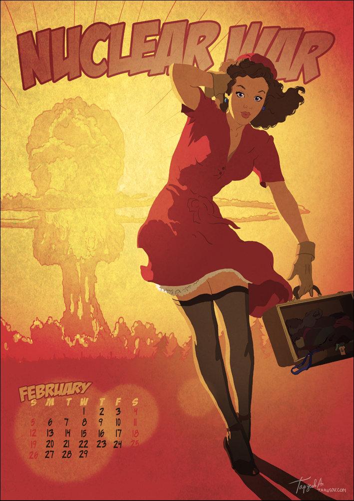 Календарь 2012 в стиле пин-ап