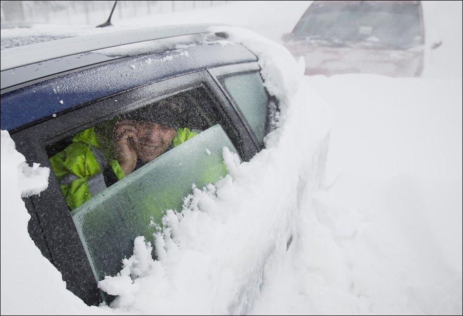 Снежная буря в Румынии