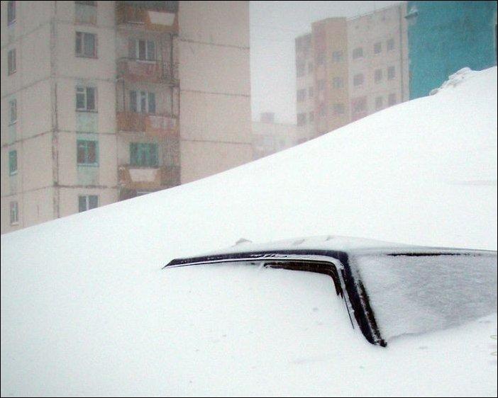 Зима в Норильске