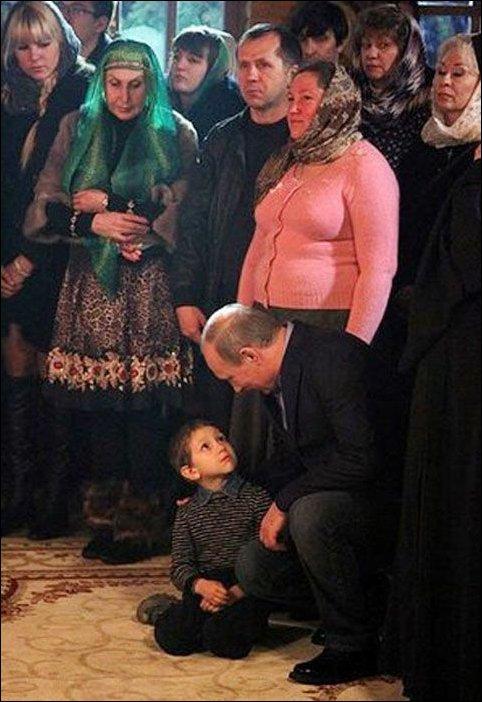 Путин и мальчик