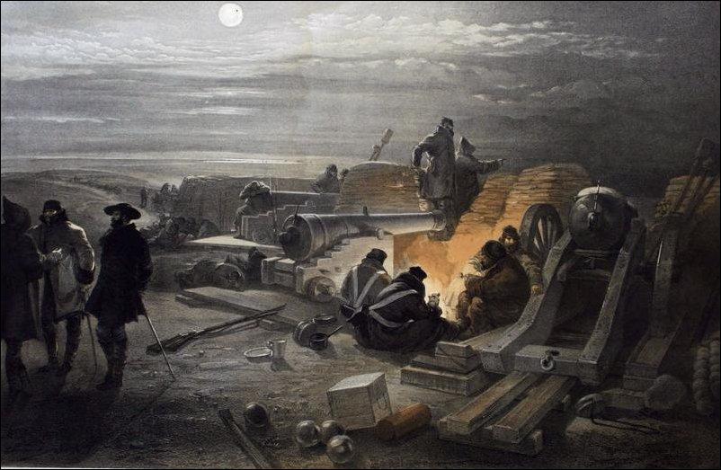 Крымская война, литография Уильяма Симпсона