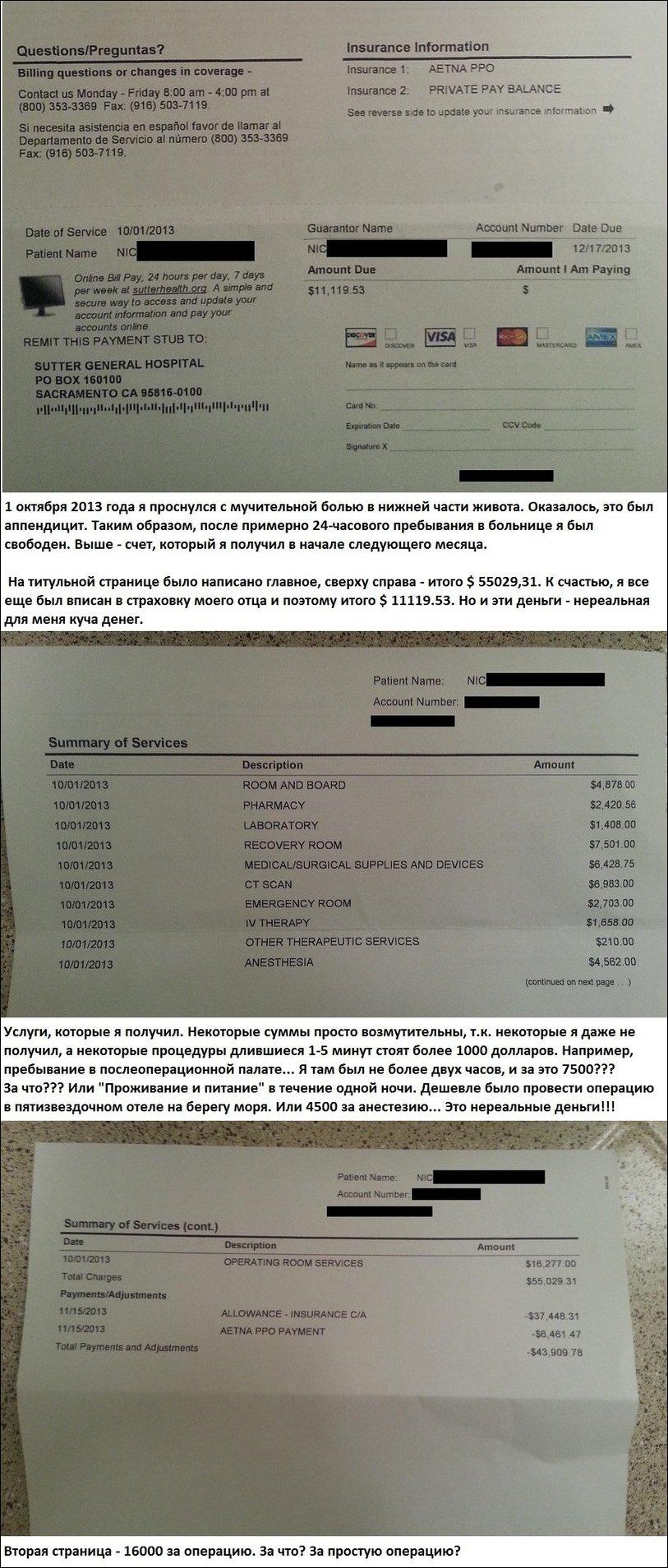 Стоимость операции без страховки